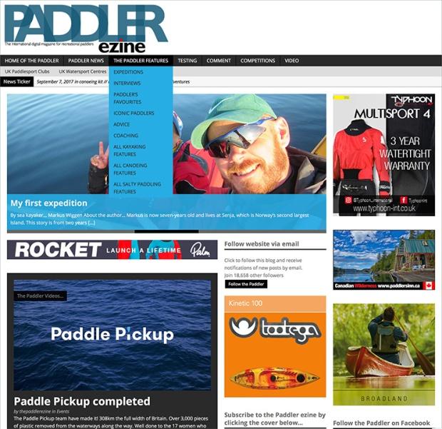 The Paddler website